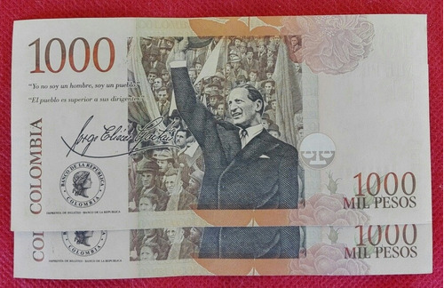 Imagen 1 de 2 de Billetes De 1000 Pesos, Formato Grande.