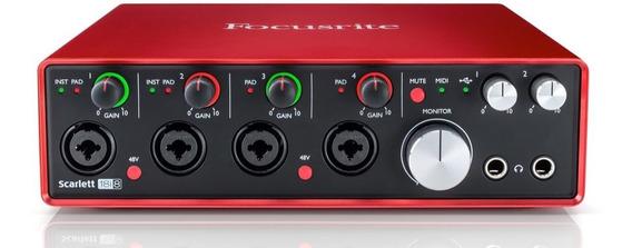 Interfaz De Audio Focusrite Scarlett 18i8 (2da Generación)