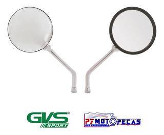 Retrovisor Gvs Moto Modelo Luis Xv Cromado Convexa Honda