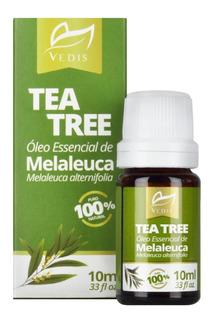 Óleo Essencial De Melaleuca Tea Tree 100% Puro 10ml Vedis