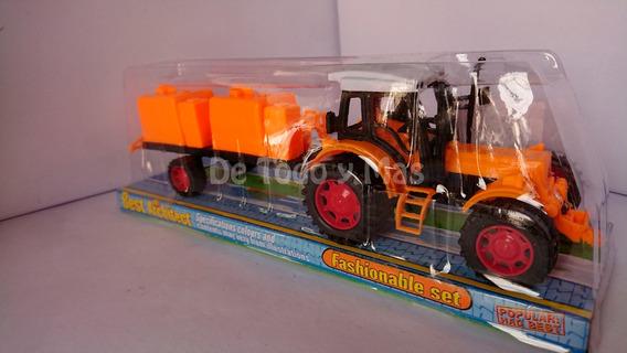 Tractor Con Remolque Mediano En Burbuja