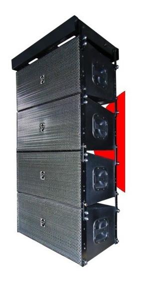 Conjunto C/ 4 Caixas Line Array Pro Eco Som La112 Nd Passiva
