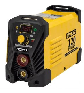 Inversor De Solda Portatil Lynus Lis-120 Power 120a Completo