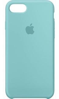 Kit 5 Capas Silicone Apple iPhone 7 8 Plus