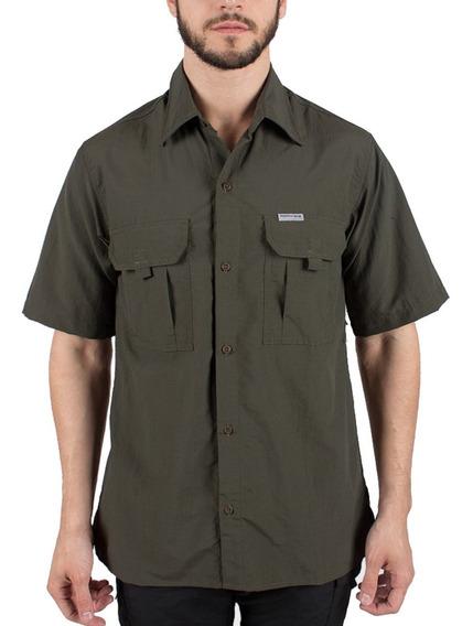 Camisa Hombre Montagne Botsuana M/c Secado Rápido Verano