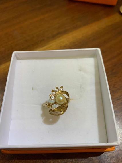 Anillo Oro Con Perla