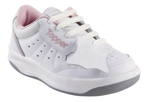 Zapatilla Topper X Force Tennis Kids Bco/rosa 21885