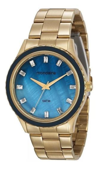 Relógio Dourado Mondaine Feminino 78747lpmvds3 Black Friday