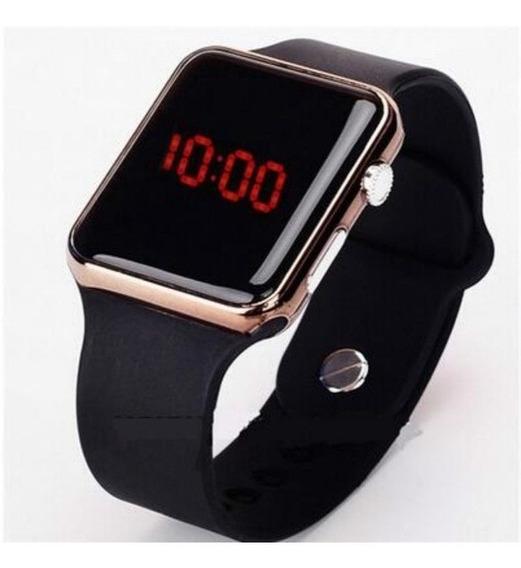Relógio Digital Led Esportivo, Puls Silicone, Estilo Apple