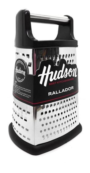 Rallador Súper Acero Inoxidable Hudson 4 Caras Base Silicona