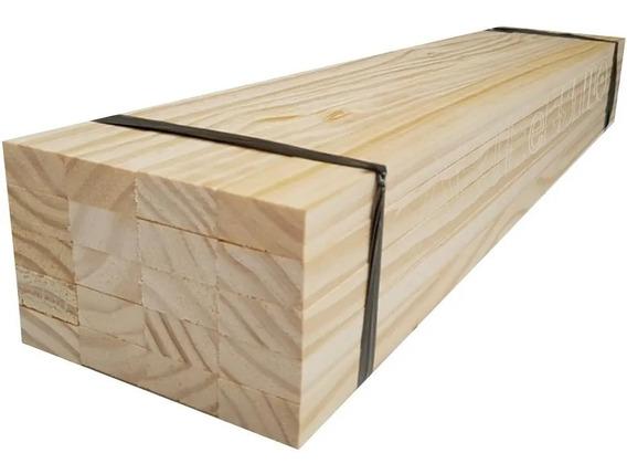 Fardo 20 Ripas Madeira Pinus 5x2 C/ 50cm De Comprimento