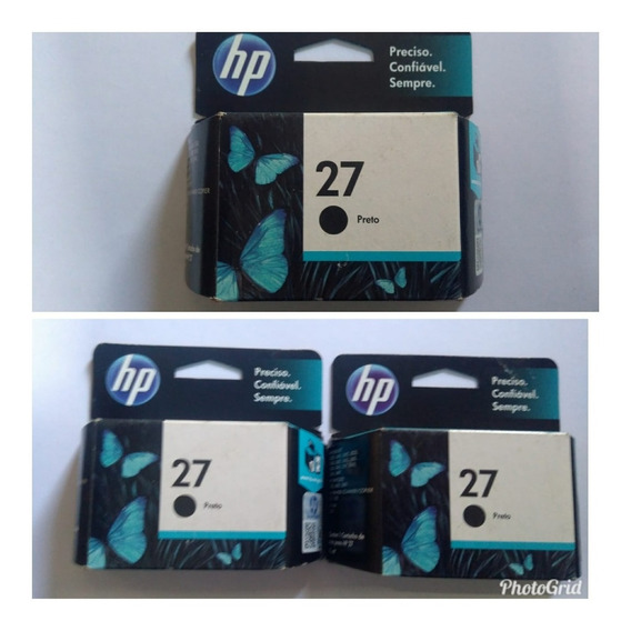 Cartucho Hp 27 Original Novo