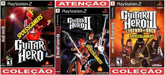 Guitar Hero 1, 2 E 3 Ps2 Coleção (3 Dvds) Patch.