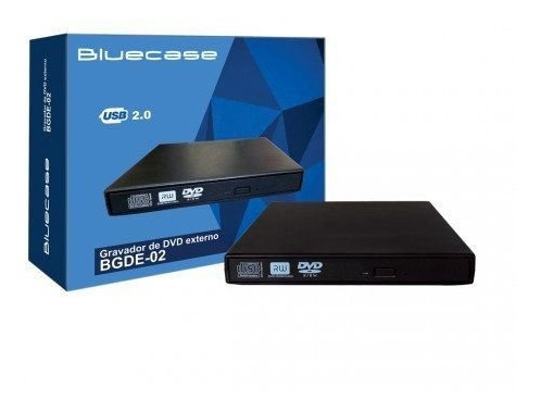 Bluecase Gravador Leitor Dvd & Cd Externo Usb P/ Windows 10