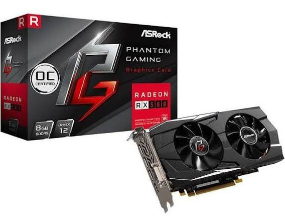 Placa De Video Asrock Phantom Gaming Rx 580 8gb Gddr5 + Nf