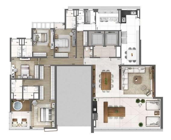 Apartamento Com 4 Dormitórios À Venda, 275 M² Por R$ 8.679.302,00 - Vila Olímpia - São Paulo/sp - Ap4966