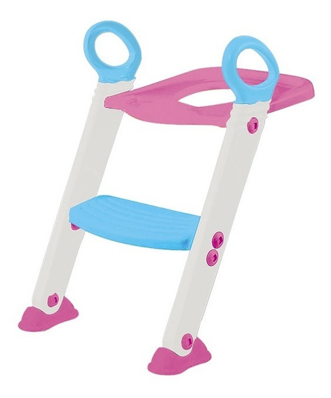 Redutor De Assento Escada Infantil Vaso Troninho Menina Rosa