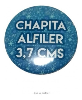 Chapitas Publicitarias Personalizadas 3.7 Cms 25 Unidades
