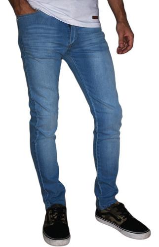 Pantalon Jean Chupin Claro Elastizado Hombre Microcentro Mercado Libre