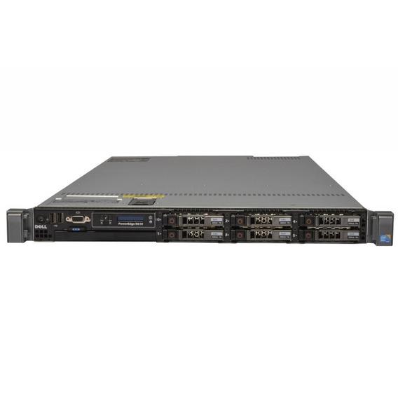 Servidor Dell Poweredge R610 2 Xeon Hd Sas 900 10k 64gb Com Garantia + Nota Fiscal Em Até 12x Sem Juros Frete Grátis