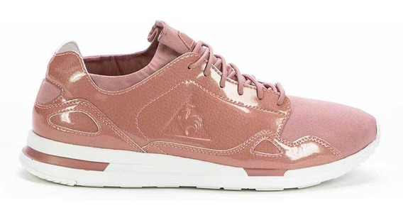 Zapatillas Flow Coated Leather Rosa Mujer Le Coq Sportif