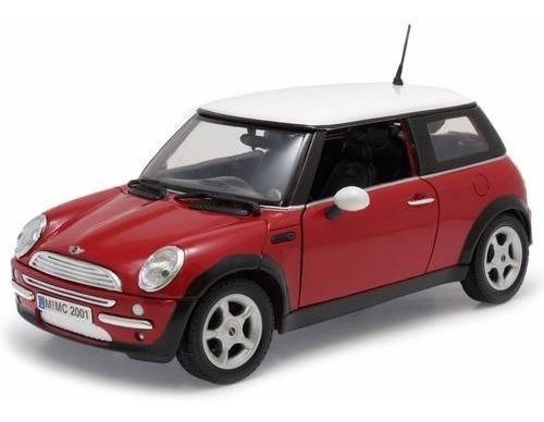 2001 Mini Cooper Vermelho - Escala 1:18 - Motormax
