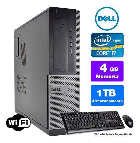 Desktop Usado Dell Optiplex Int I7 2g 4gb 1tb Brinde