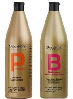 Salerm Shampoo + Bálsamo Proteínas 1000ml C/u
