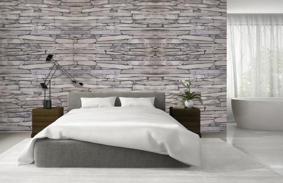 Papel Tapiz 3d Decorativo Piedra Moderno Lavable Para Pared