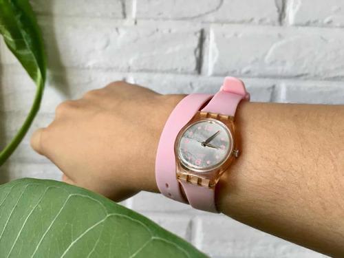 Relógio Swatch Modelo Delight Dream Lp128c Rosa