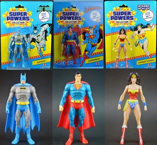 Mattel Dc Superpowers Superman Batman Wonder Woman Nuevos !!