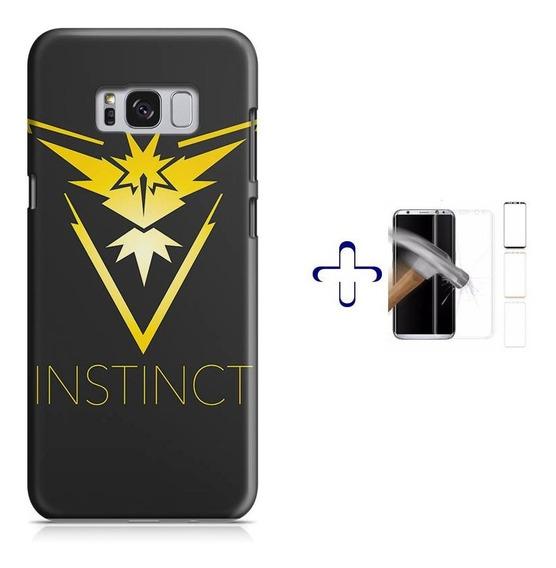 Kit Capa Galaxy S8+ Pokemon Team Instinct+pel.vidro (bd01)