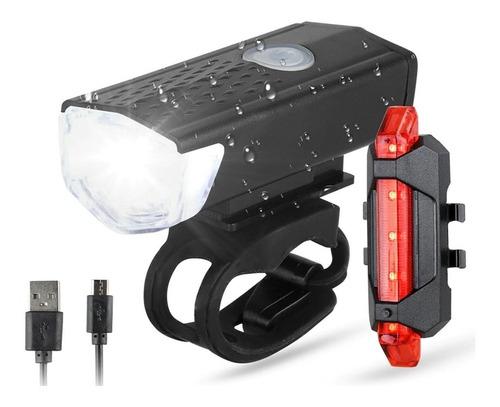 Kit Lanterna E Farol Bicicleta Luz Ultra Led A Prova D'água