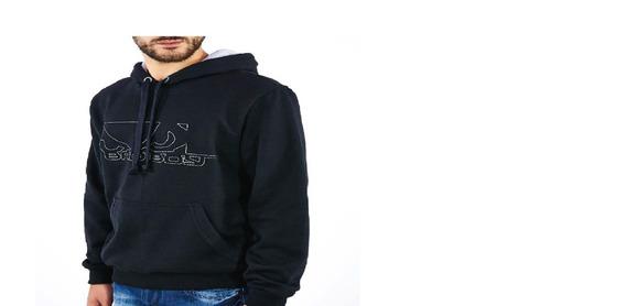 Kit Moletom Masculino E Camiseta Lisas Basica Bad Boy Black