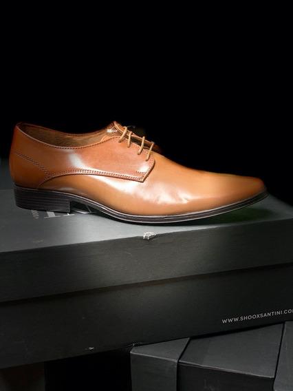 Santini Sxm03-4 Zapato Caballero Miel Piel