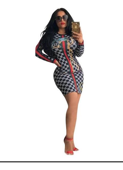 Vestidos Grid Strip De Luxo