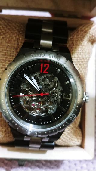 Reloj Mecanico De Pulsera, Madera. Bobo Bird -hombre