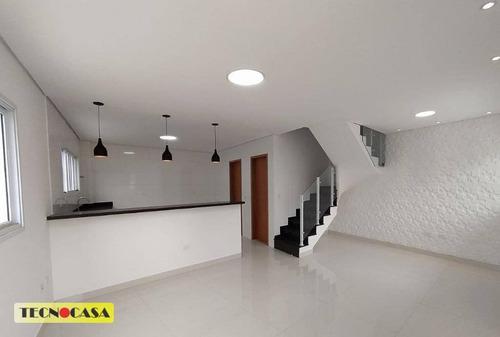 Lindo Sobrado Com 03 Dormitórios Para Venda Com 100 M² No Bairro  Vila Guilhermina Em  Praia Grande/sp. - So2258