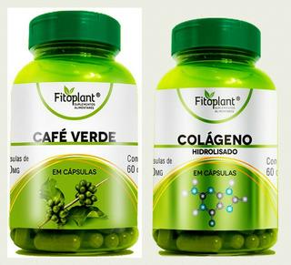 5 Café Verde + 5 Colágeno 60 Capsulas 500 Mg Cada Frasco