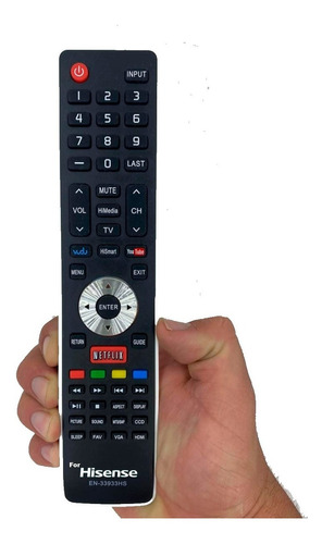 Imagen 1 de 1 de Control Remoto Hisense Smart Tv  En-33933hs