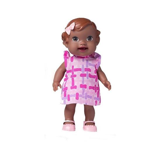 Boneca Babys Collection Alive Papinha Negra - Supertoys