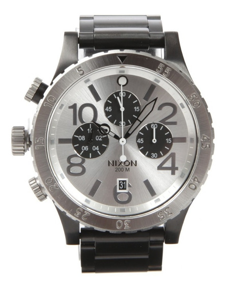 Relógio Nixon Preto Com Prata 100% Original Modelo Exclusivo