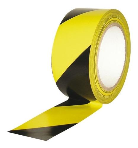Cinta Demarcación  Negro - Amarilla Adhesiva