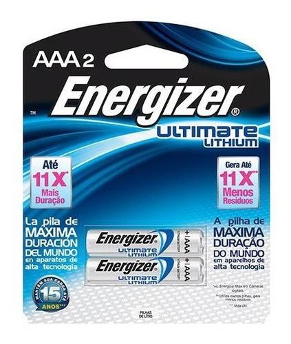 2 Pilhas Alcalina 1,5v Energizer Ultimate Lithium Dura 11x +