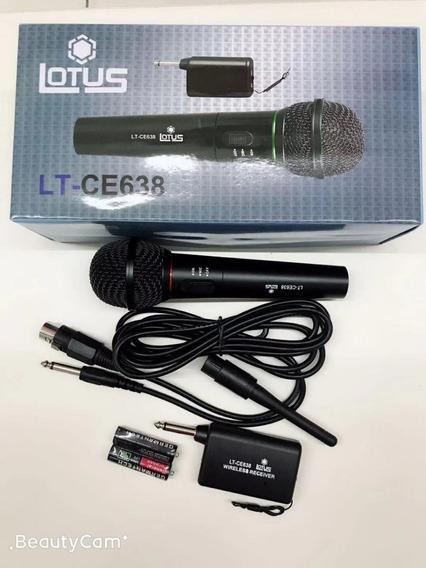 Microfone Wireless Sem Fio - High Quality Audio Garantia