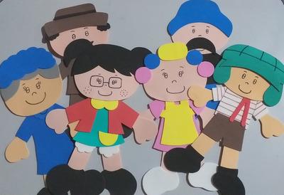 Bonecos Em Eva - Turma Do Chaves. R$:5,00reais Cada Unidade