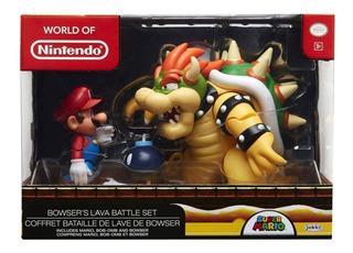 Nintendo World Mario Figura Diorama Set Bowser Vs Mario