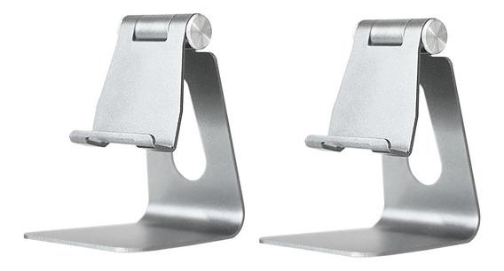 2x Suporte Universal Para Tablet Celular Ajustável Aluminio