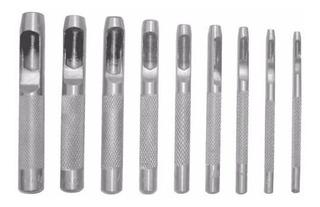 Jogo Vazador Furador Perfurador Couro 2.5mm A 10 Mm 09 Peças