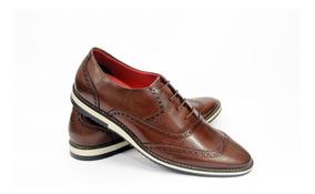 Sapato Sapatenis Casual 100% Couro Italiano Oxford Inglês